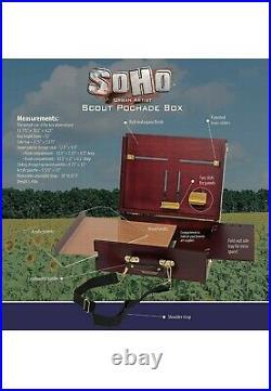 Soho Urban Artist Pochade Box for Plein Air Painting Lightweight French Easel