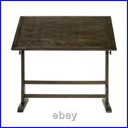 Studio Designs Vintage Wood Art Drafting Desk Table with Tilting Top (Open Box)