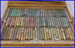 Talens Rembrandt 180-Color Soft Pastel set with original wooden Box, Used