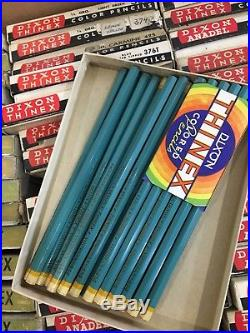 Thinex colored pencils Vintage with boxes New old stock Mixed colors lot of 800+