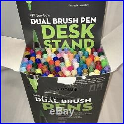 Tombow Professional Dual Brush Pen Marker Set 96 Colors withDesk Stand Open Box