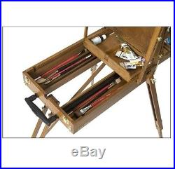 Traveling French Easel Wooden Sketch Box Portable Folding Durable Artist Tripod