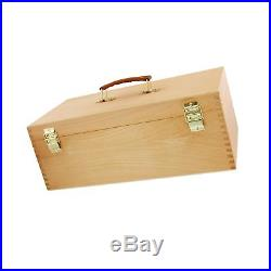 US Art Supply Artist Wood Pastel Pen Marker Storage Box with Drawer(s) Large