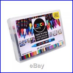 Uni POSCA Marker Pen PC-5M Medium 2.5mm Collection Box of 39 Colours