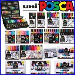 Uni Posca Paint Marker Kits Cases, Sets, Packs, All Options Pastel & Mega Packs