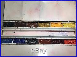 VINTAGE WINDSOR & NEWTON FIELD WATER COLOUR METAL PAINT BOX thumb ring