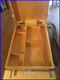 VTG Yarka Medium French Field Box Easel Made In Russia by Podolsk Art