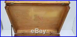 Vintage Antique Dovetail Wooden French Artists Painters Box Divided Case Palate