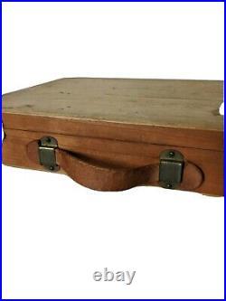 Vintage Artist's Oil Paint Case Weber Malfa Junior Plein Air Wooden Box Travel