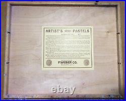 Vintage Artists Pastels 60 Pastels In A Wood Box
