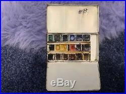 Vintage Artists Winsor Newton Watercolour Paint Box Tin Art Painting