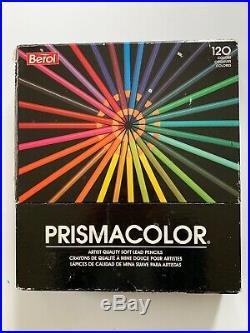 Vintage Berol Prismacolor Colored Pencils 120 Easel Box, Complete, 2 Used