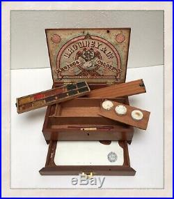 Vintage C. ROWNEY & Co Artists Colormen Wooden Paint Box