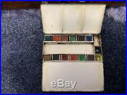 Vintage C Roberson Spring Box Watercolour box Painting Artists Paint Tin