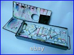 Vintage Charles Roberson Watercolour Paint Box Art Palette Box