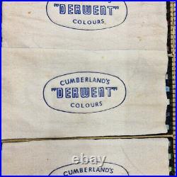 Vintage DERWENT COLOURS PENCIL DRAWING SET in box c1940's