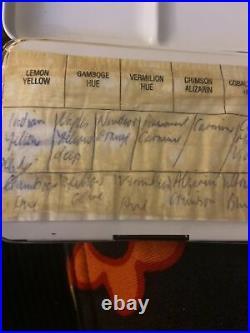 Vintage Daler Rowney Paint Box, Hardly Used Uk P/p Inc 35 Halfs 2 Large