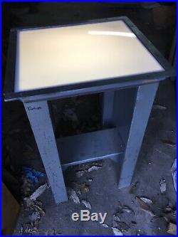 Vintage Drawing Light Box Negative Table Tattoo Art Industrial Steam Punk Steel