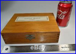 Vintage Geometric Crystal Shapes Desk Models Display Cubist Wood Blocks 6 Boxed