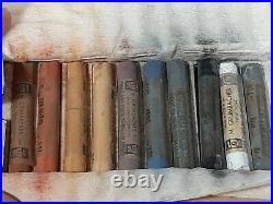 Vintage Grumbacher 40 Finest Soft Pastels Landscape Wood Box series 11 USA made