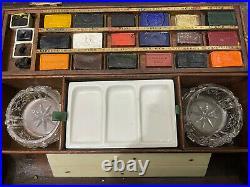 Vintage James Newman Artists Watercolour Paint Box Painting Art Painting