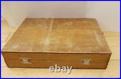 Vintage Large Roberson Wooden Paint Box + palette + Winsor Newton Oil Paints etc