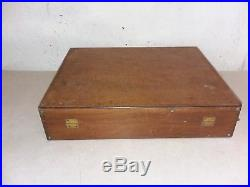 Vintage M. GRUMBACHER Wood Art Box With Supplies- Some New Old Stock