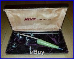 Vintage Paasche AB Air Brush Jadite Green with Original Box Case super rare htf