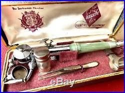 Vintage Paasche AB airbrush Bakelite handle with case & tools box and instructio