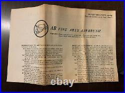 Vintage Paasche Airbrush Type AB Kit Marble Red With Original Box