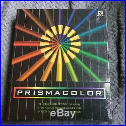 Vintage Sanford Prismacolor Color Pencil Set 120 USA! MINT in sealed box