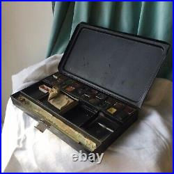 Vintage Watercolor Paint Tin Travel Box Reeves Winsor Newton Antique