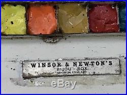 Vintage Watercolour Artists Paint Box Winsor Newton Bijou Box Art Painting