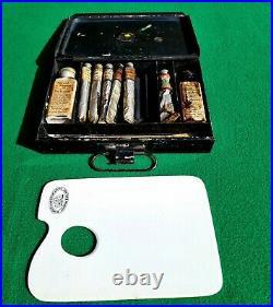 Vintage & Winsor Newton Ceramic Palette and Metal Paint box
