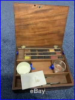 Vintage Wooden Watercolour Artists Paint Box By James Newman Painting Art