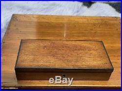 Vintage Wooden Winsor Newton Watercolour Box Art Painting Paint