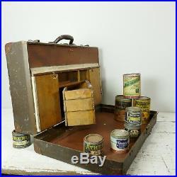 Vintage artists travelling paint box paints film prop pinstripe sherwin williams