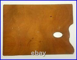 Vtg Mabef Beechwood Artist Sketch Box 17x13 Palette Portable Tubes Oil Paints