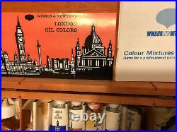 Vtg Windsor & Newton Oil Paint Kit/Wood Box, Late 60s, Unusual Find