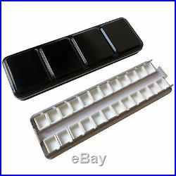 Watercolor Tins Palette Paint Case Metal Tin Box with 24Pcs Empty White Half Pan