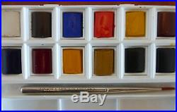 Watercolour artist materials (Bundle used/unused brushes. Cotman box. Sketch pads)