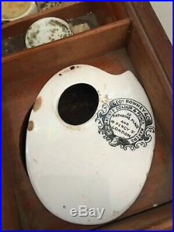 Winsoir & Newton antique paint artist box painting set Georges Rowney & Co