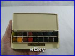 Winsor & Newton 18 1/2 Pan Watercolor Bijou Field Plein Aire Tin Box