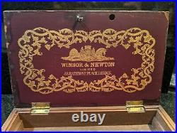Winsor & Newton Antique Paint Box with Key