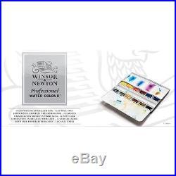 Winsor & Newton Artists Professional Quality Watercolour 12 Whole Pan Metal Box