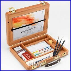 Winsor & Newton Artists Water Colour Half Pan Bamboo Box Set