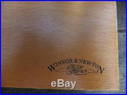 Winsor & Newton Artists Watercolour Wooden Paint Box 2 Sable Brushes Paints