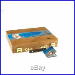 Winsor Newton Bamboo Box Watercolor with 12, 1/2 Pans and Much More