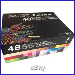 Winsor & Newton ProMarker Marker Pen 48 Essential Colour Collection Box Set