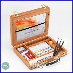 Winsor & Newton Professional Watercolour Bamboo Gift Box Half Pan Painting Set